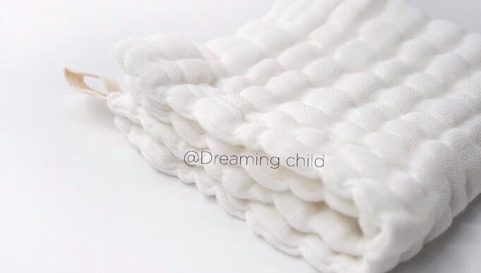 ผ้าเช็ดหน้า อาบน้ำ ซับน้ำลาย คอตตอนมัสลิน